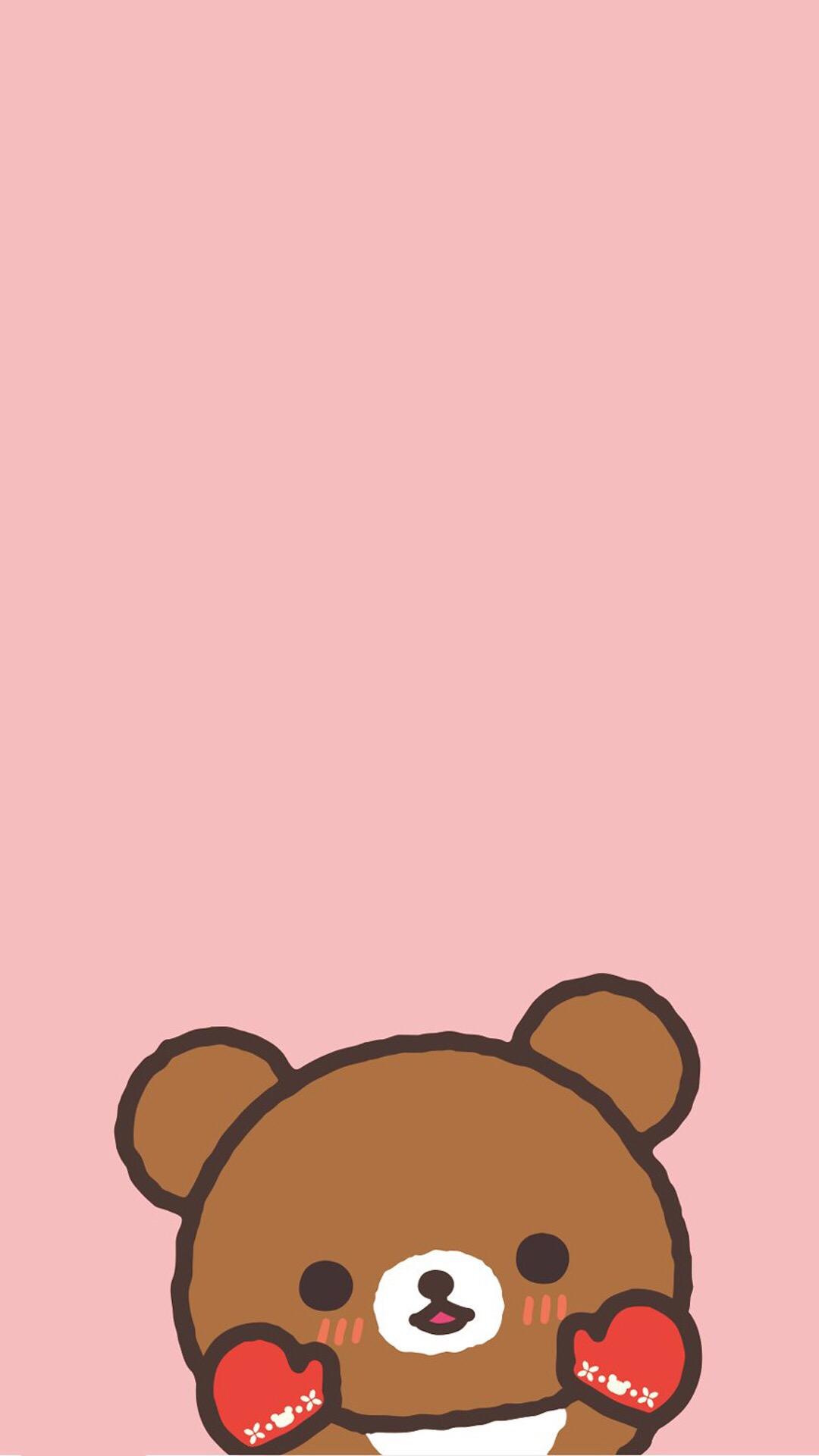 电脑上wap网:卡通 动漫 可爱熊 粉 苹果手机高清壁纸 1080x1920_爱思