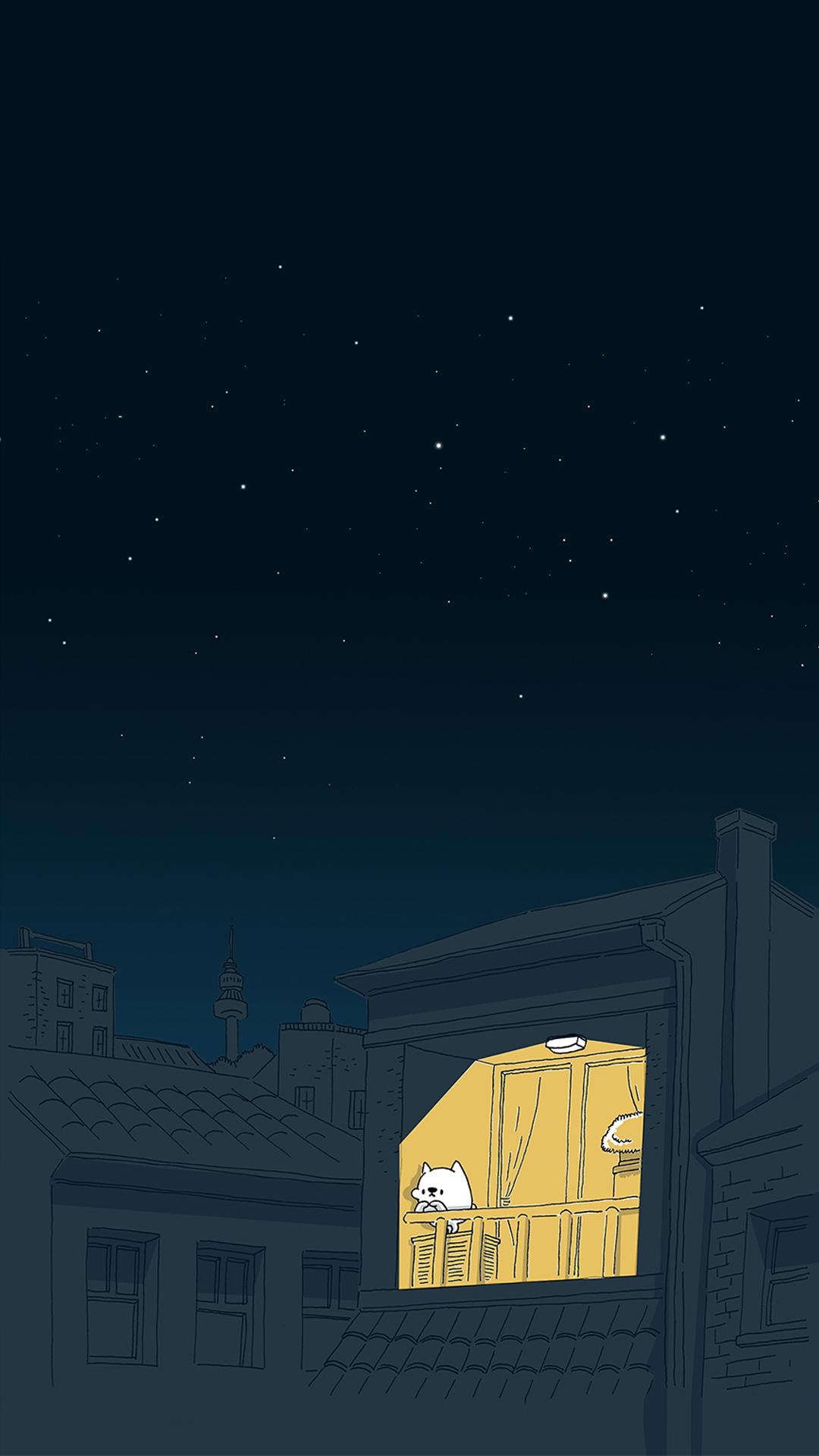 星空手绘手机壁纸