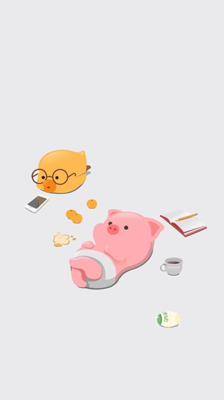 萌萌哒可爱小猪图片卡通