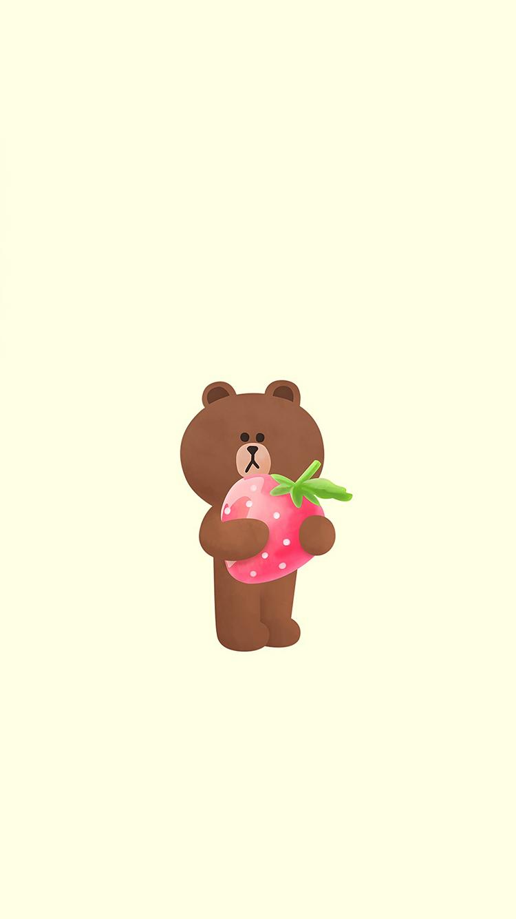 line 布朗熊 卡通 草莓