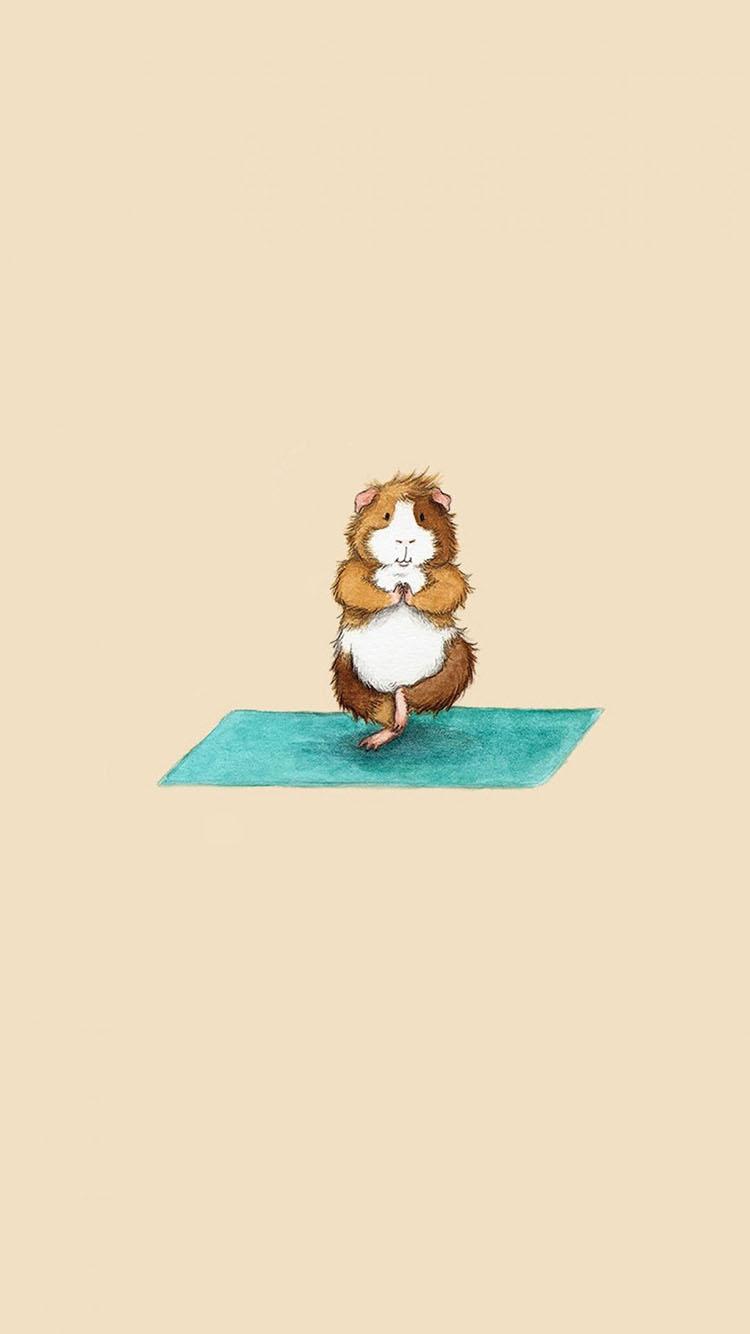 萌宠 动物 仓鼠 可爱 独脚站立