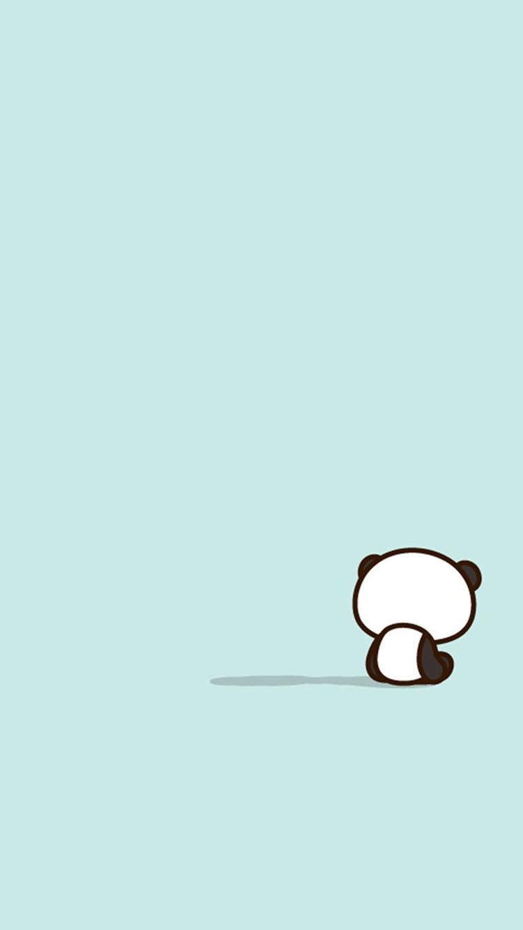 小熊猫背影卡通