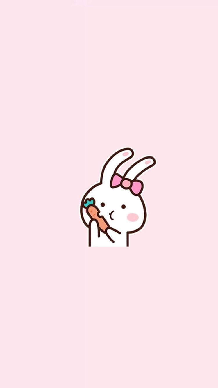 吃胡萝卜的小白兔卡通