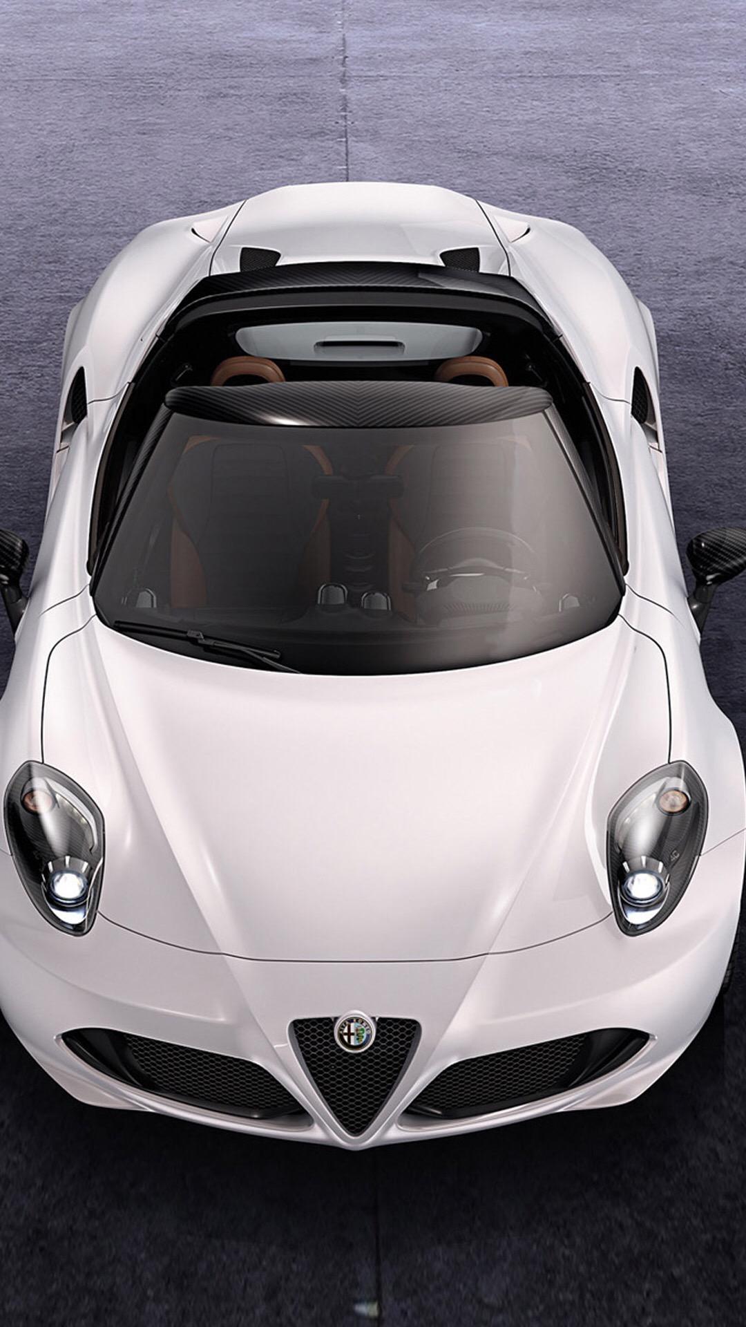豪车 跑车 名车 白色 赛车 苹果手机高清壁纸 1080x