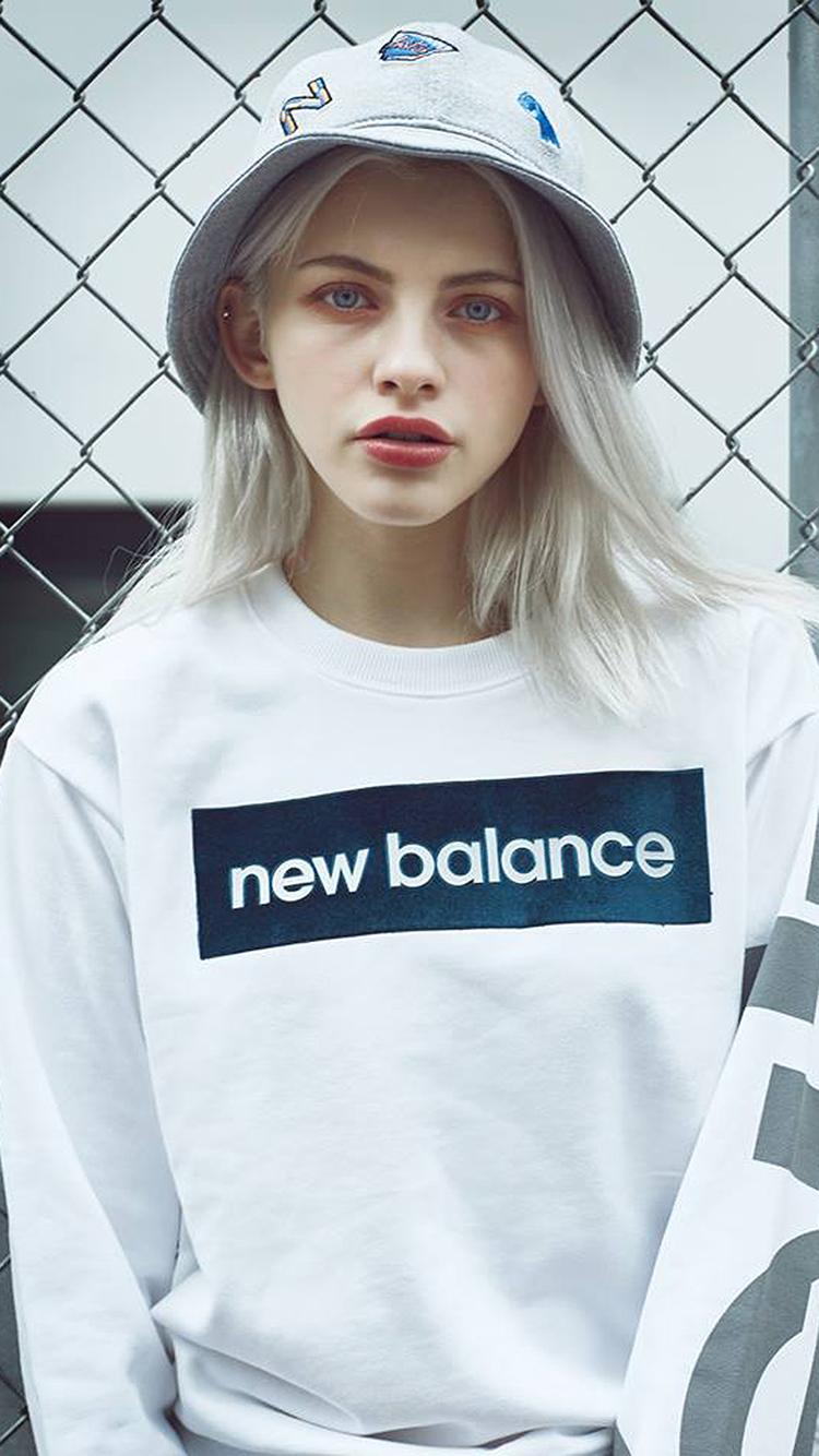 欧美 女生 newbalance 新百伦 苹果手机高清壁纸 750x