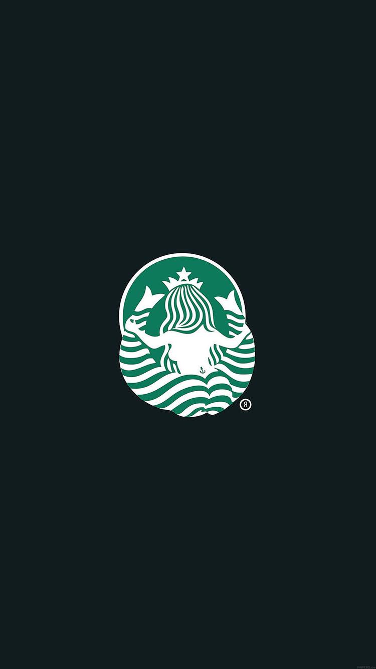 黑色背景 綠色 美人魚logo