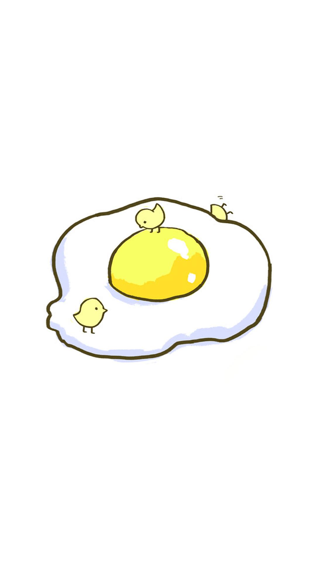 鸡蛋 手绘 创意 小鸡 简约