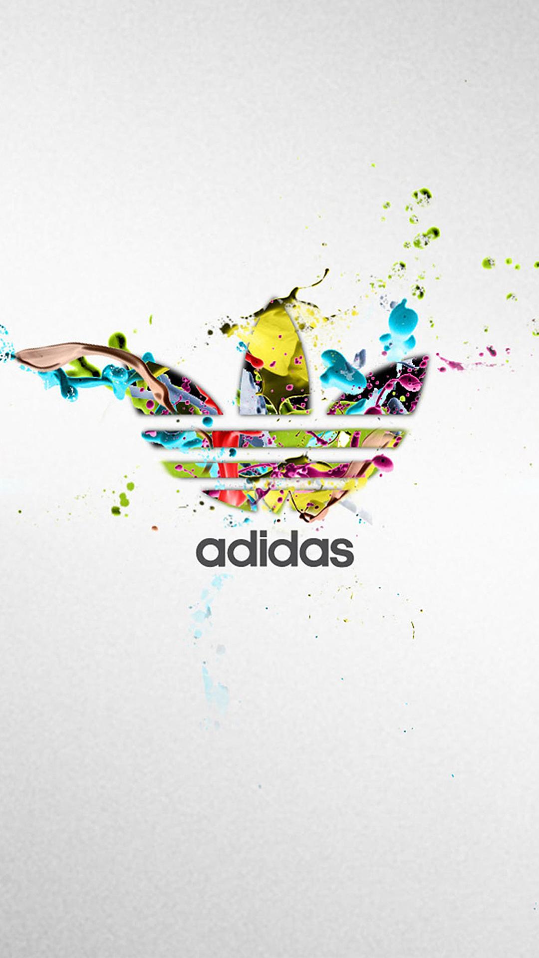 色彩 阿迪达斯 adidas 三叶草 苹果手机高清壁纸 1080