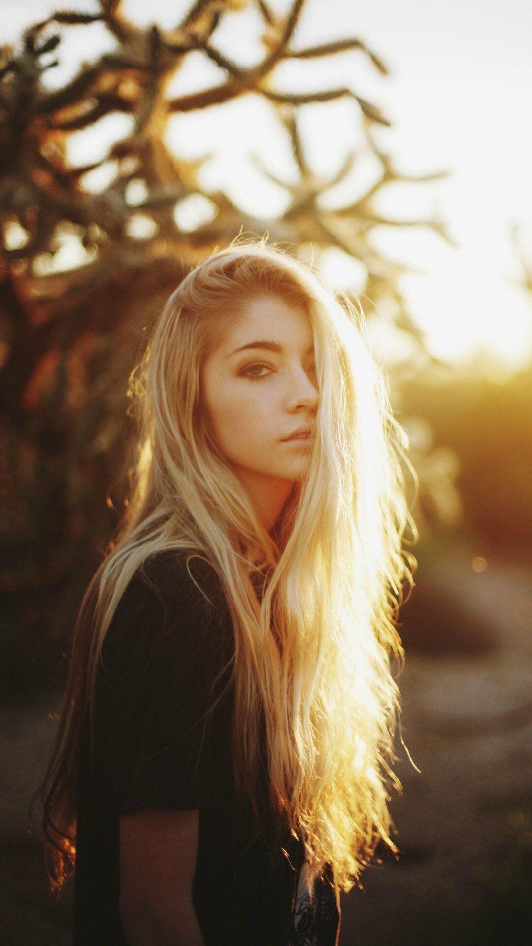 金发 阳光 长发 欧美 女孩