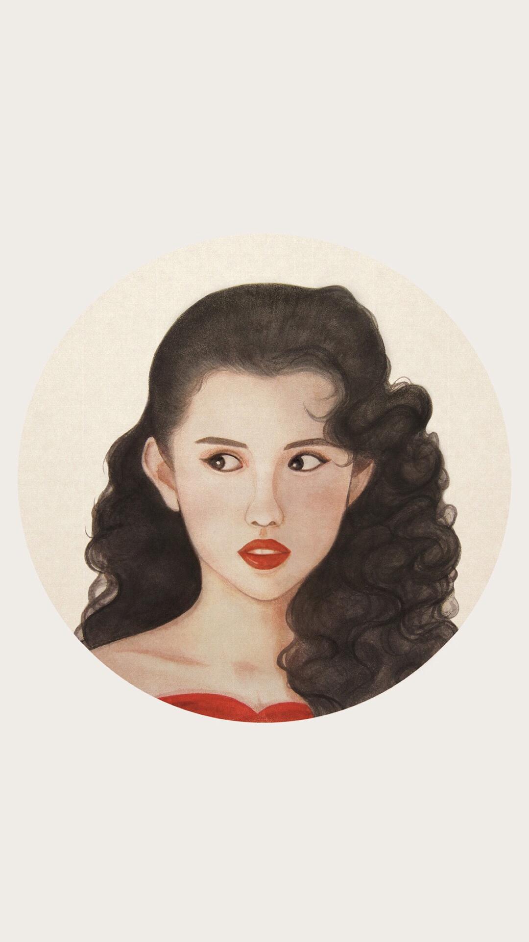动漫 女生 手绘 短发 苹果手机高清壁纸 1080x1920