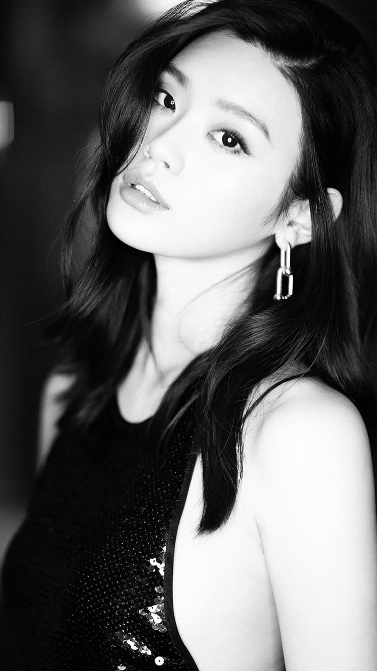 奚梦瑶 模特 维密 黑白 演员 明星