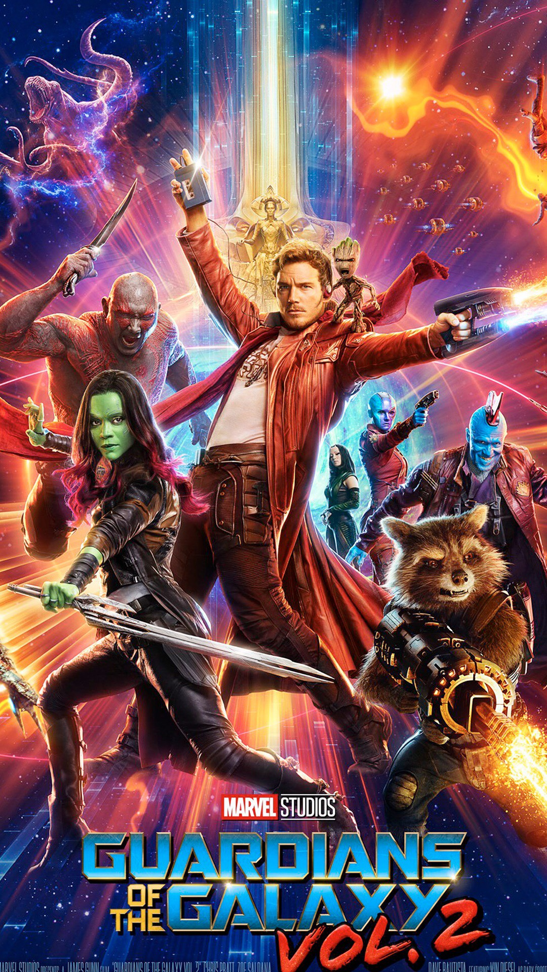银河护卫队 电影 科幻 星爵 彼得·奎尔 火箭浣熊 卡魔拉 德拉克斯
