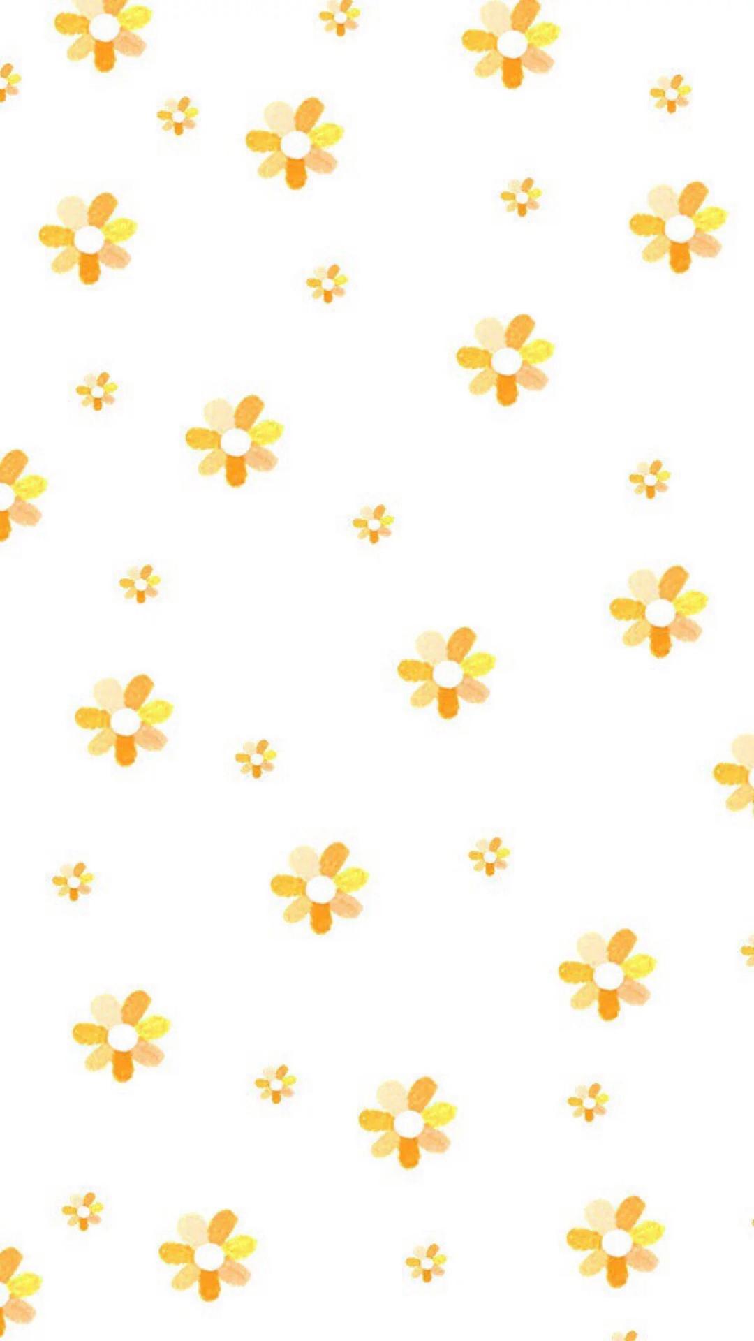 平铺 黄花 小花 屏保 苹果手机高清壁纸 1080x1920