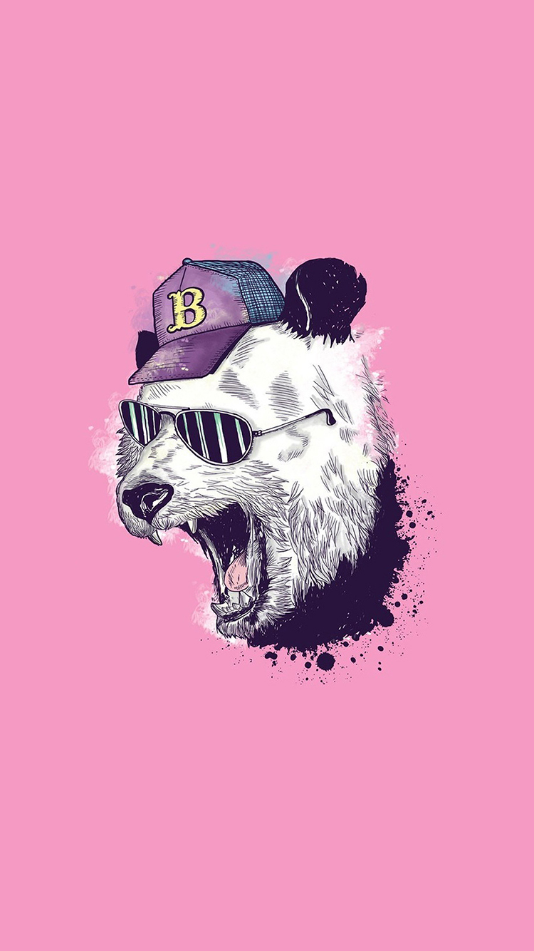手绘 创意 插画 熊猫