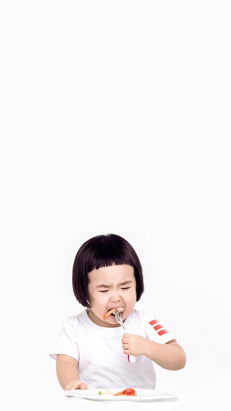 吃货 小女孩 蘑菇头 可爱 萌