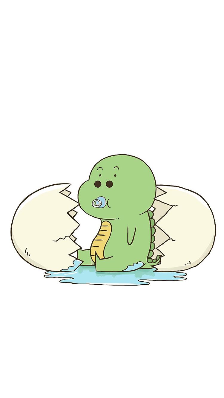 小恐龙 恐龙蛋 手绘 可爱