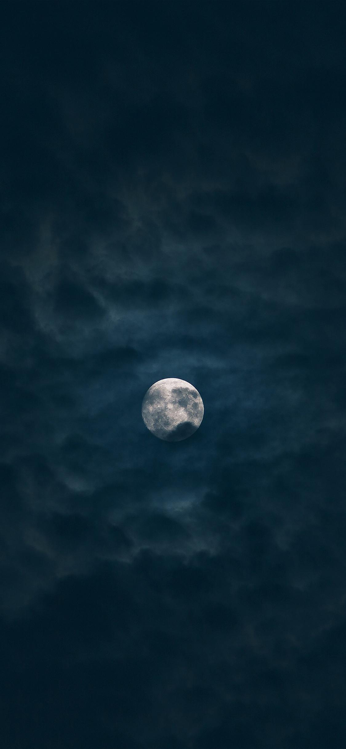 月圆 月亮 夜晚 云层