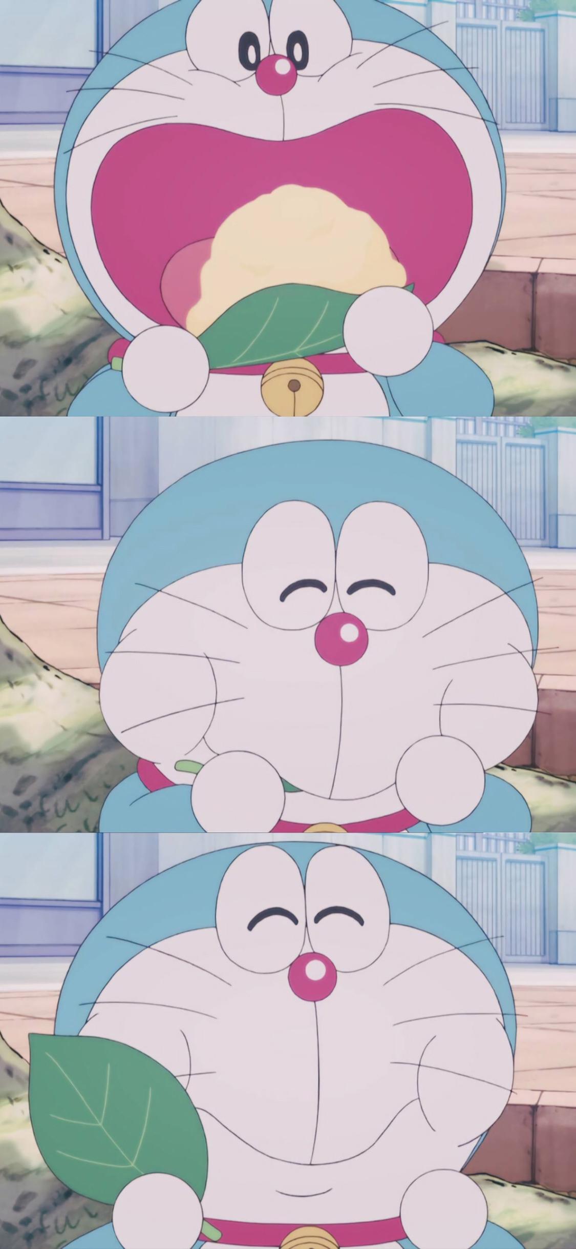 哆啦a梦 动画片 漫画 叮当猫 吃 可爱