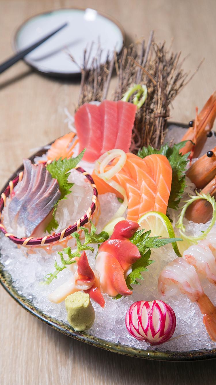刺身 鱼生 三文鱼 海鲜 拼盘