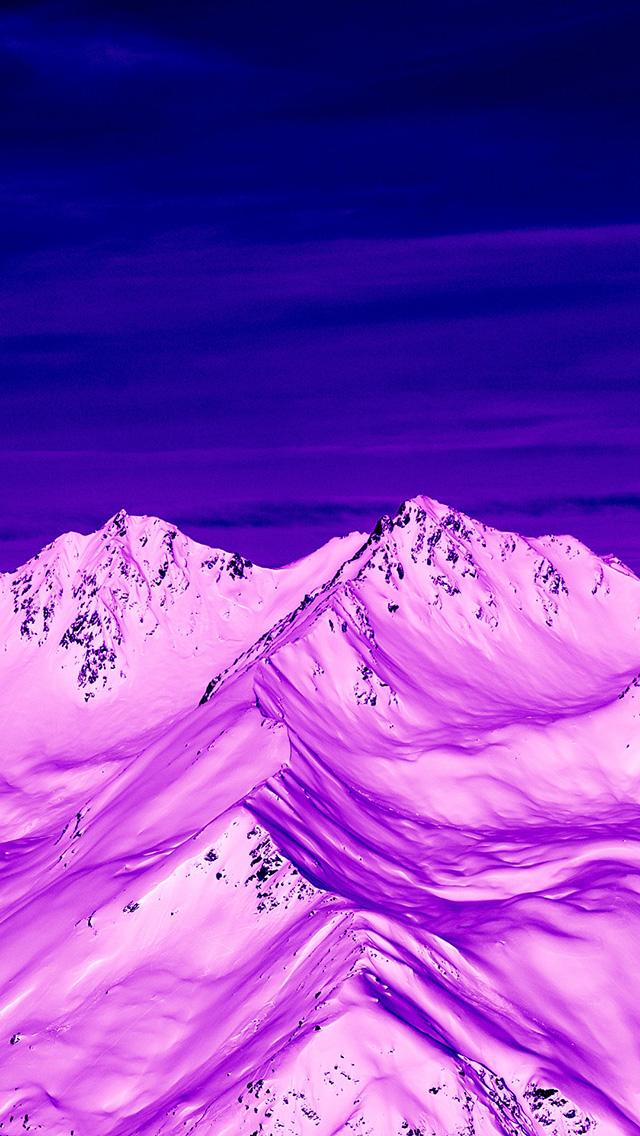 雪山 滤镜 紫色调 风景