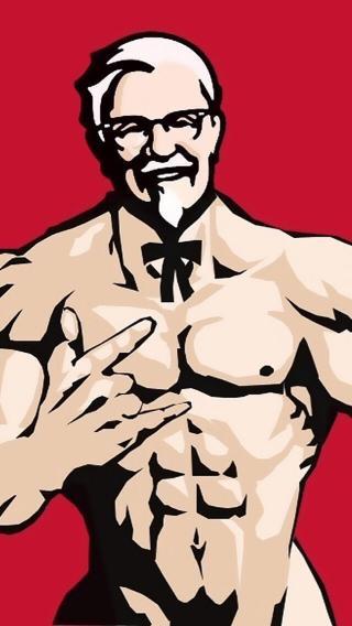 肯德基 肌肉 KFC 老爷爷