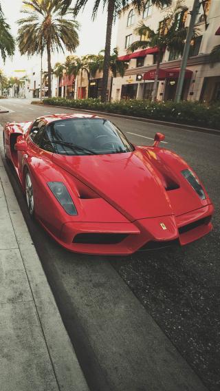 法拉利 红色 超级跑车 名车