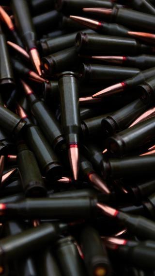 子弹 弹壳 黑色 金属 军用
