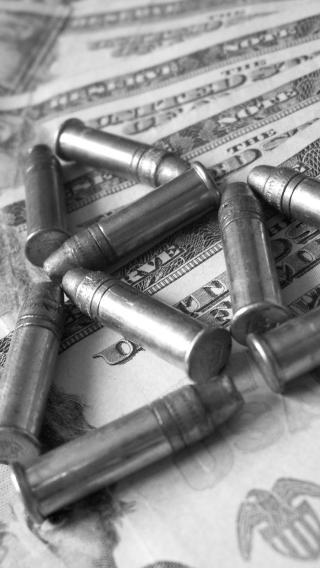 子弹 黑白 军用 纸币