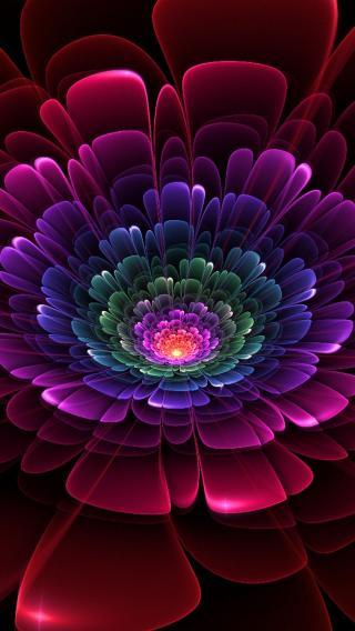 花瓣 层叠 色彩 渐变
