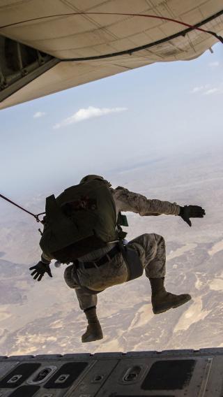 跳伞 军人 航空 军事 士兵
