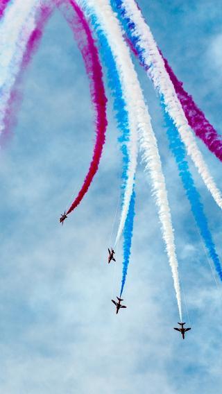 飞机 军事 航展 战斗机 喷雾