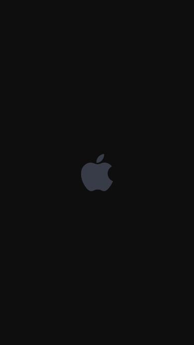 苹果logo 简约 黑色 灰