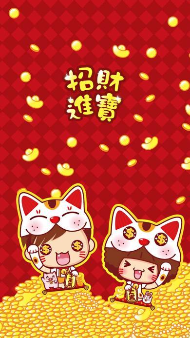 新年 过年 拜年 招财猫