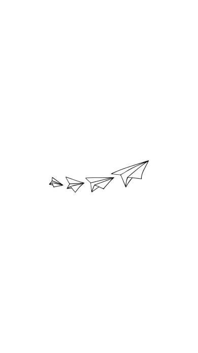 纸飞机 黑白 简笔画 简约 线条