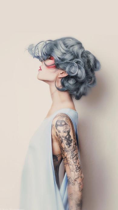 创意 手绘 女生 短发