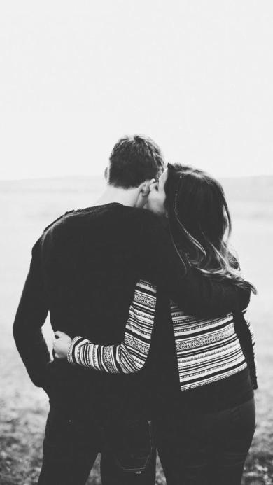 黑白 爱情 情侣 背影