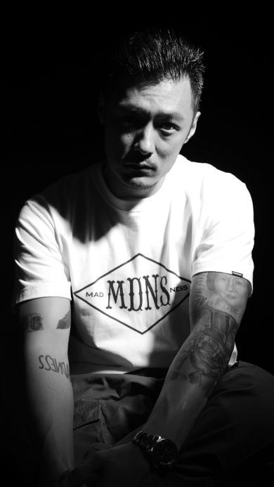 余文乐 黑白 演员 纹身 明星 艺人