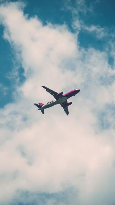 飞机 天空 蓝天白云 飞行