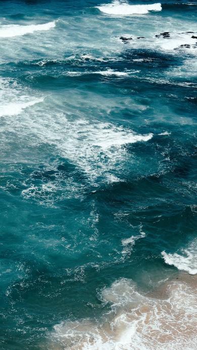大海 蓝色 海浪 海边