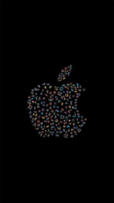 科技 苹果 logo 黑