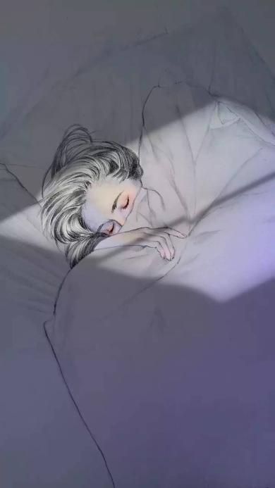 女生 睡觉 阳光 睡着
