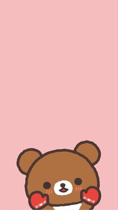 卡通 动漫 可爱熊 粉