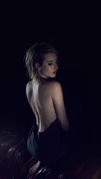 艾玛·罗伯茨 美国 演员 露背 性感