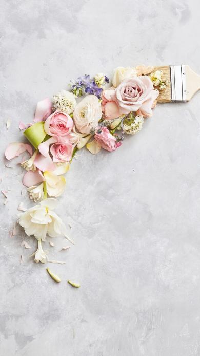 鲜花 花束 创意 玫瑰 干花