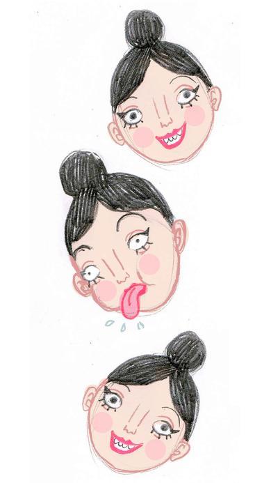 插画 女生 创意