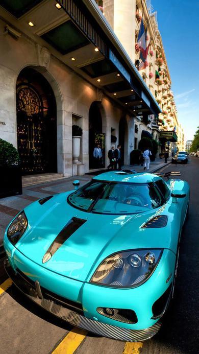 跑车 名车 豪车 蓝色