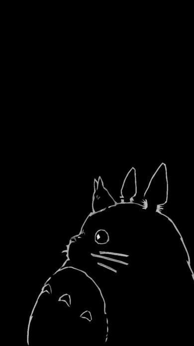 龙猫 动漫 黑色
