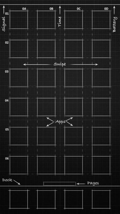 创意 设计 苹果主屏幕 黑色 线稿