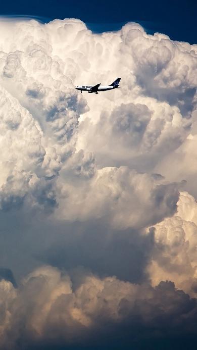 战斗机 军事 天空 白云
