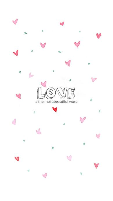 LOVE 爱心 爱情 is the most beautiful word